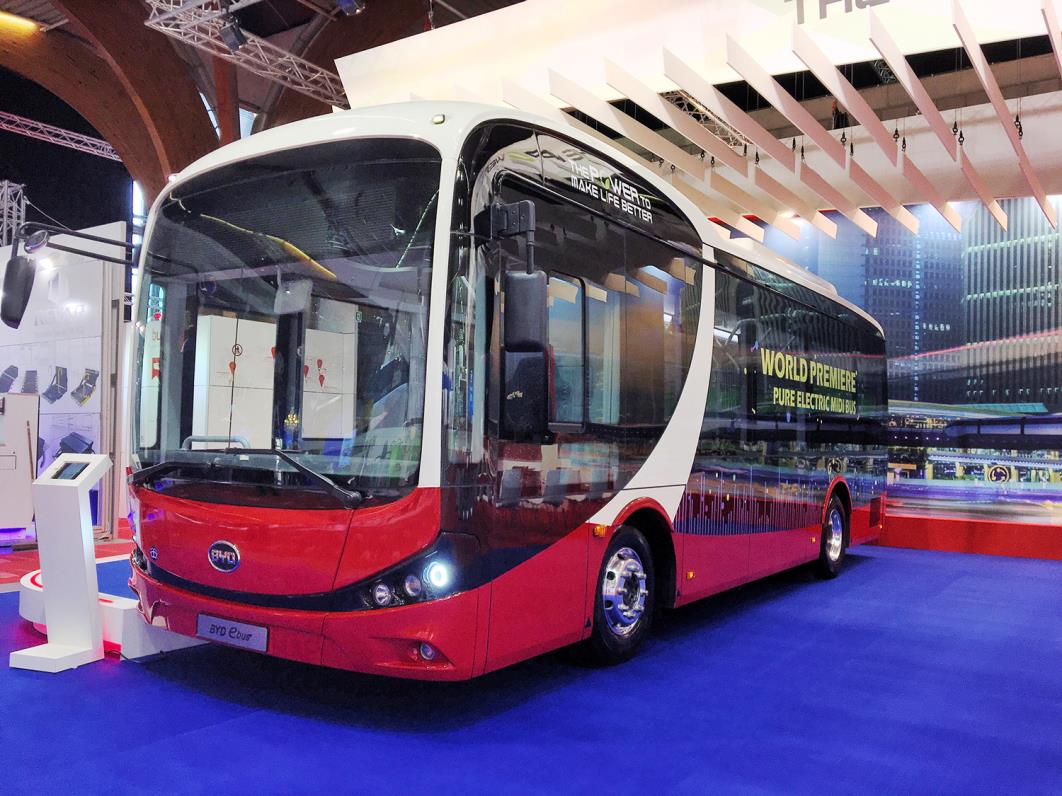 BYD's brand new Midibuswins first European order