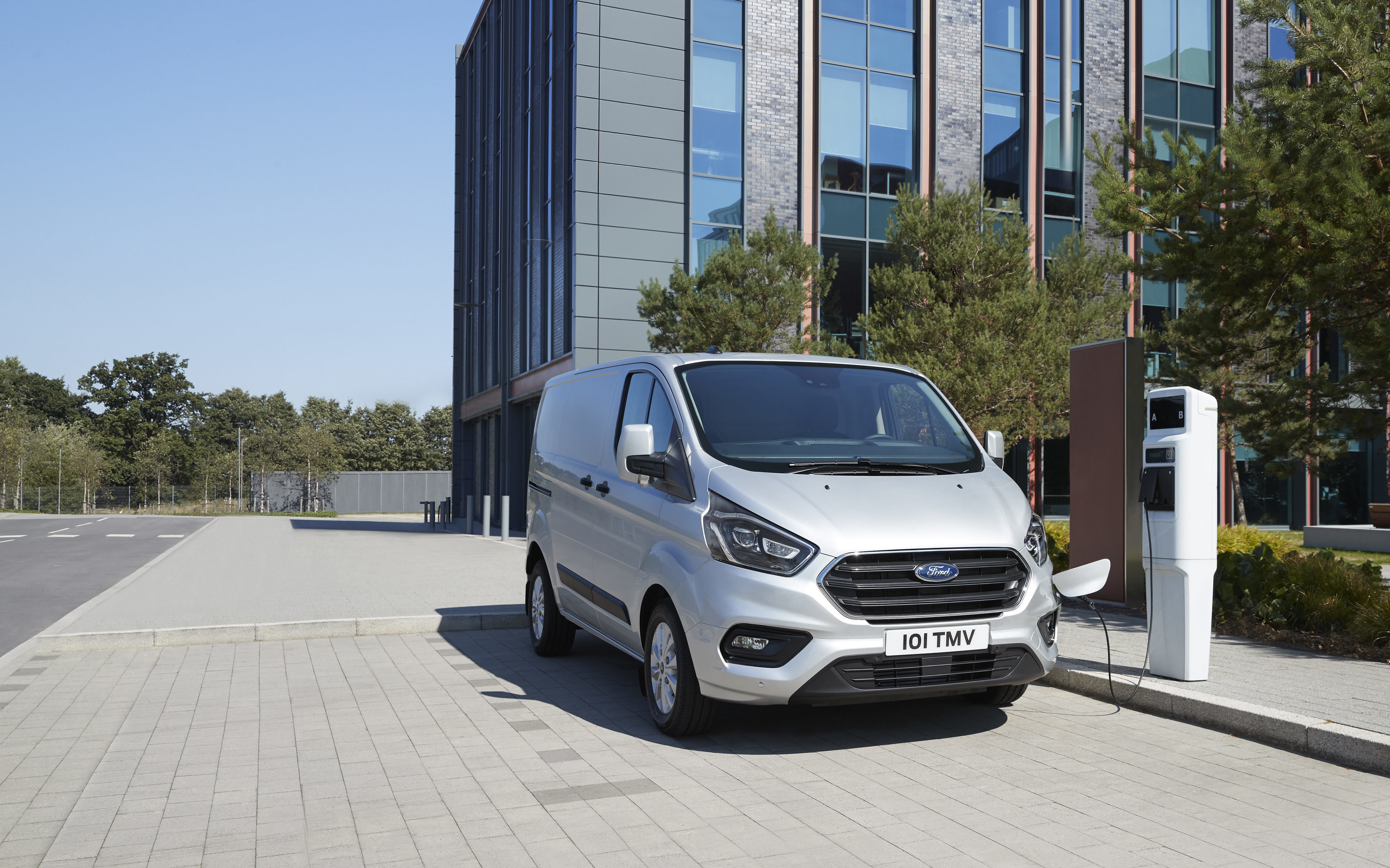 Production version of the new Transit Custom plug-in hybrid electric vehicle revealed in Hannover