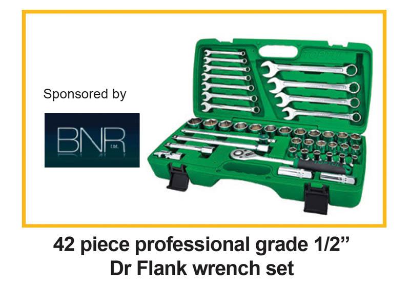 "Win a 42 piece professional grade 1/2"" Drive Flank wrench set sponsored by BNR Ltd Toptul Ireland"