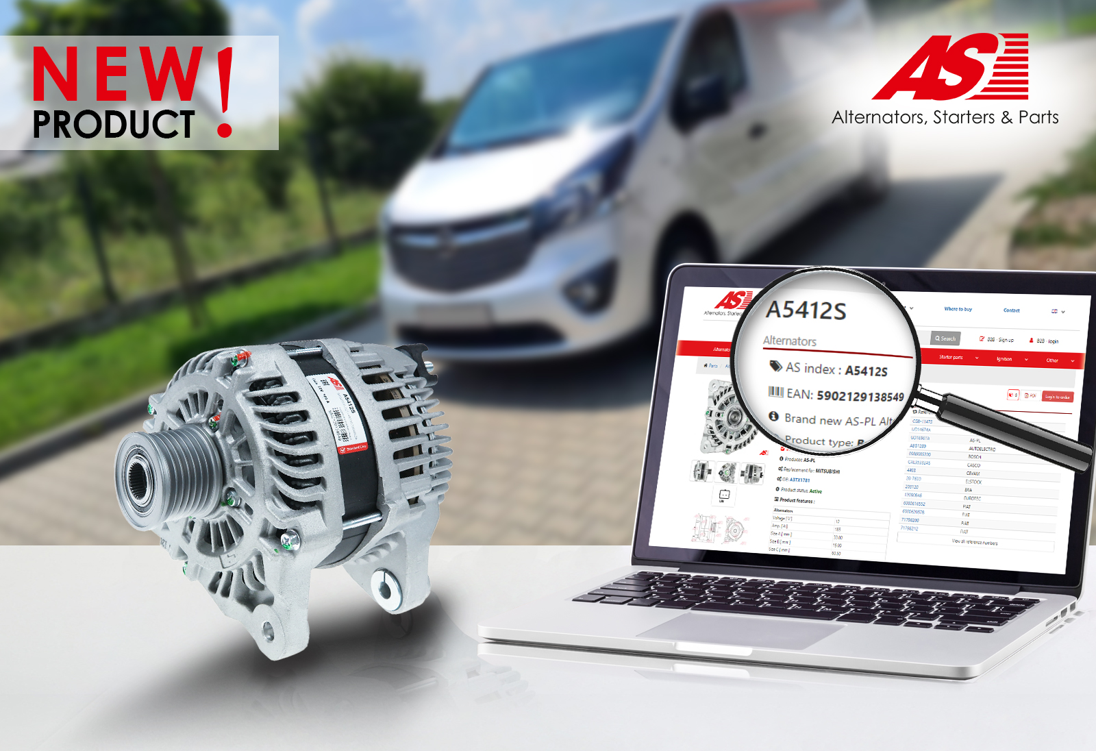 New Renault, Nissan, Opel alternator from AS-PL