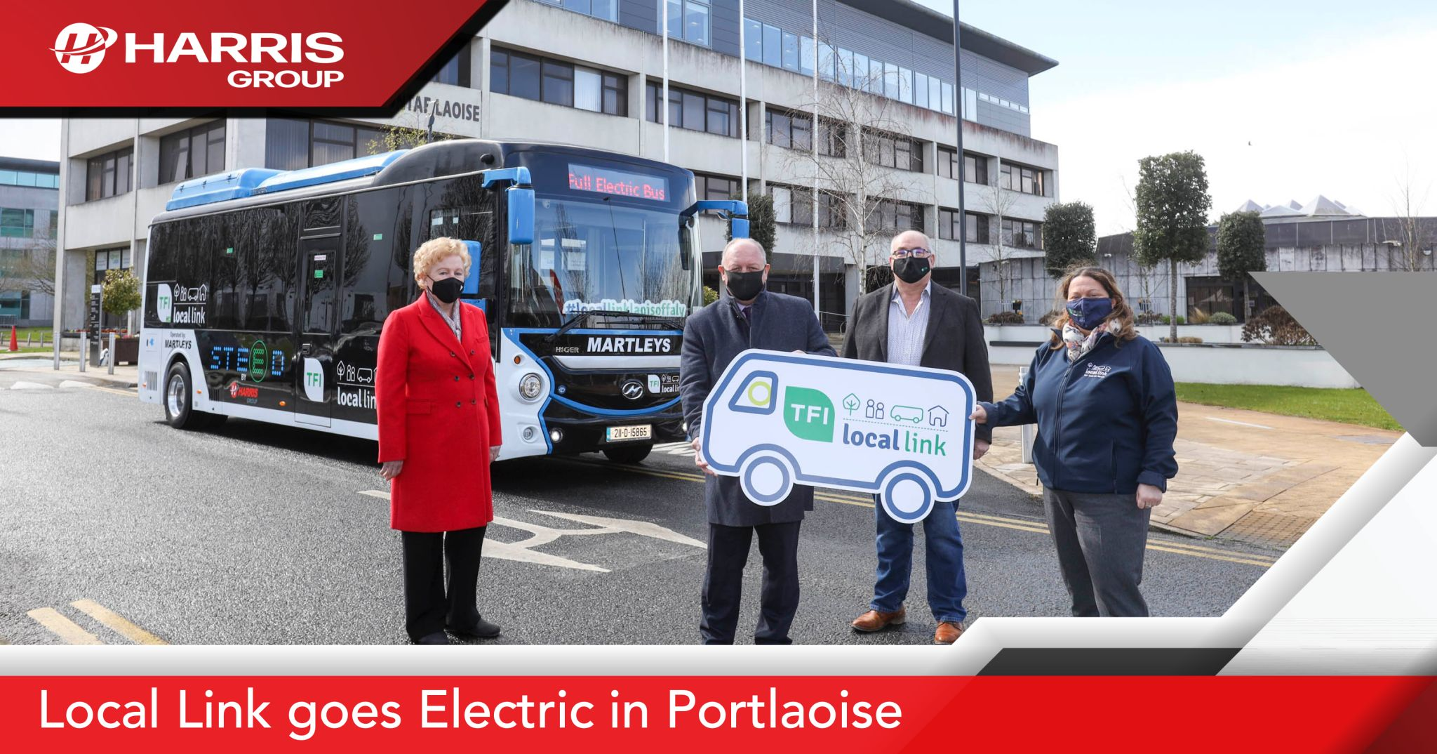 Harris Group supplies Ireland's first electric public transport bus