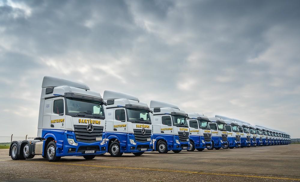 New Actros fleet for Bartrum Group