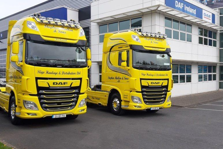 Double DAF delivery for Sligo Haulage & Distribution